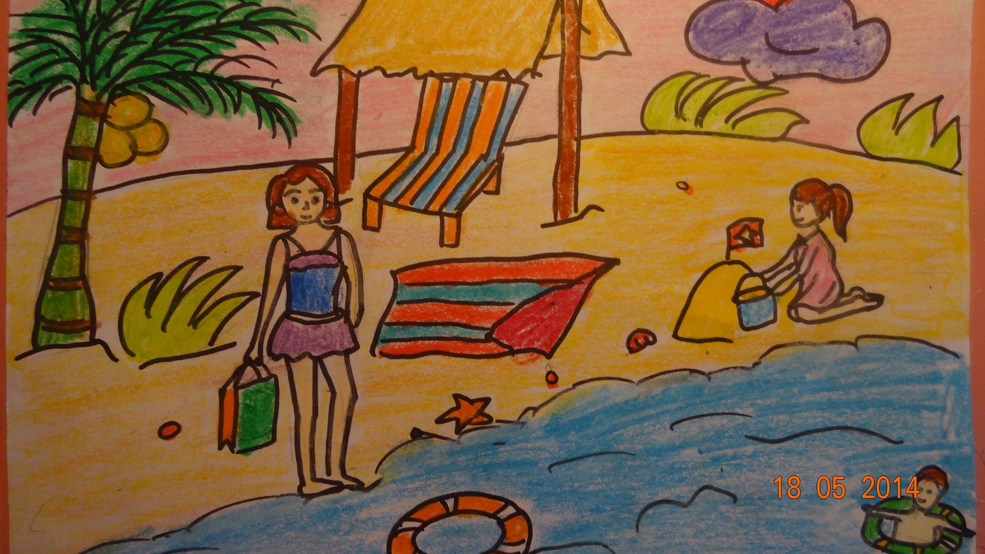 Bức tranh Bãi biển mùa hè đạt giải xuất sắc nhất trong tháng 5